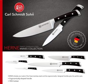 Cutitul bucatarului Herne, Carl Schmidt Sohn 037871,20 cm, maner negru, cutie cadou1