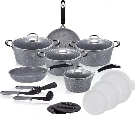 Set Oale marmorate 18 piese Gray Stone Touch Berlinger Haus BH 6196 [1]