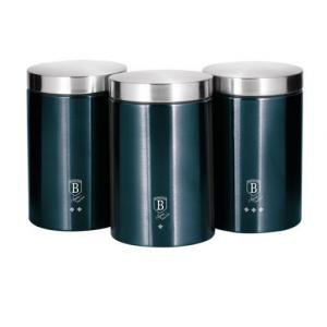 Set 3 recipiente pentru bucatarie Aquamarine Metalic Line Berlinger Haus BH 62710