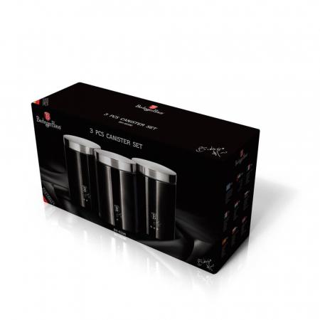 Set 3 recipiente pentru bucatarie Black Silver Berlinger Haus BH 62961