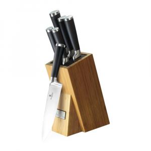 Set de cutite 6 piese, suport bambus, Berlinger Haus Black BH 24250