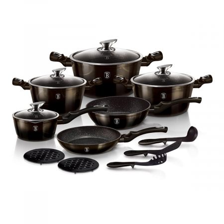 Set oale marmorate 18 piese Shiny Black Berlinger Haus BH 6614 [0]