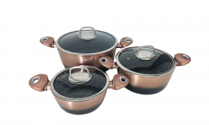 Set oale marmorate 6 piese Imperial Collection  IM-CAS3-FMT COB Copper0