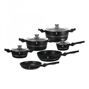 Set oale marmorate, Imperial Collection IM-ST10-DFM BLK, 10 piese, negru0