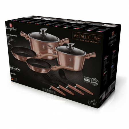 Set Oale Marmorate 10 piese Rose Gold Berlinger Haus BH 6142 [1]