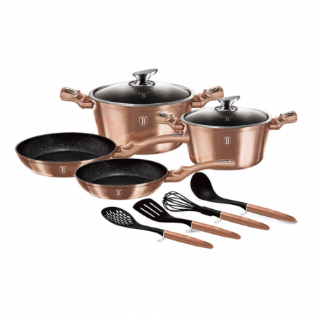 Set Oale Marmorate 10 piese Rose Gold Berlinger Haus BH 6142 [0]