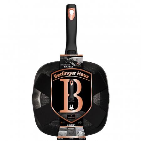 Tigaie grill 28 cm cu maner detasabil Black Rose Berlinger Haus BH 1953 [1]
