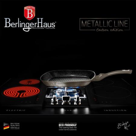 Tigaie grill marmorata 28 cm Carbon Metalic Line Berlinger Haus BH 12494