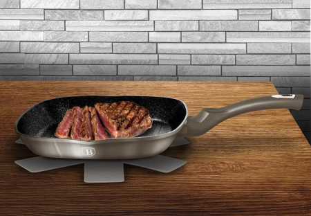Tigaie grill marmorata 28 cm Carbon Metalic Line Berlinger Haus BH 12493