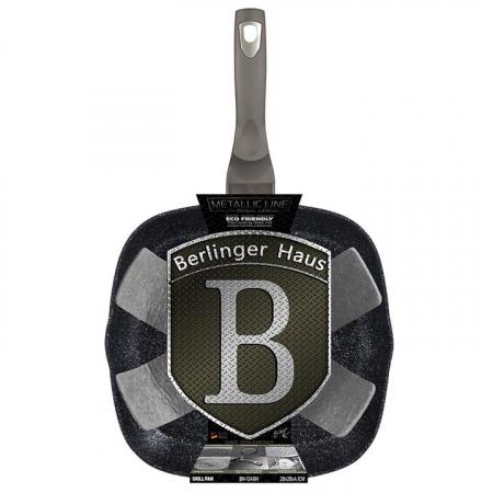 Tigaie grill marmorata 28 cm Carbon Metalic Line Berlinger Haus BH 12491