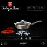 Tigaie marmorata cu capac 24cm  Carbon Metalic Line Berlinger Haus BH 1237N5