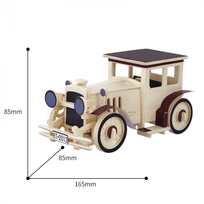 Masina clasica puzzle 3d din lemn 1 1