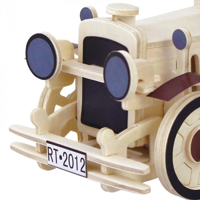 Masina clasica puzzle 3d din lemn 1 2