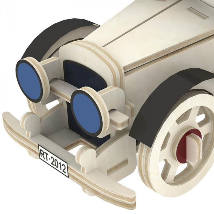 Masina Clasica - MechFun Puzzle 3D din Lemn 2