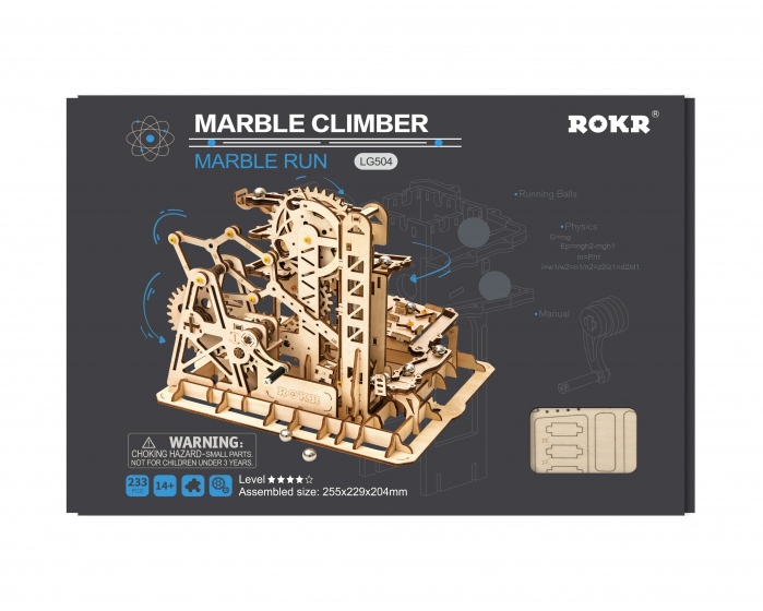 Marble Climber - Puzzle mecanic 3D din lemn 3