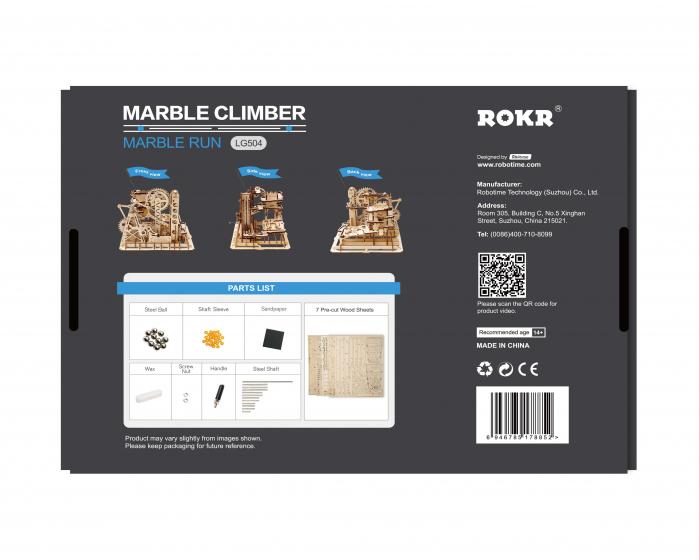 Marble Climber - Puzzle mecanic 3D din lemn 5