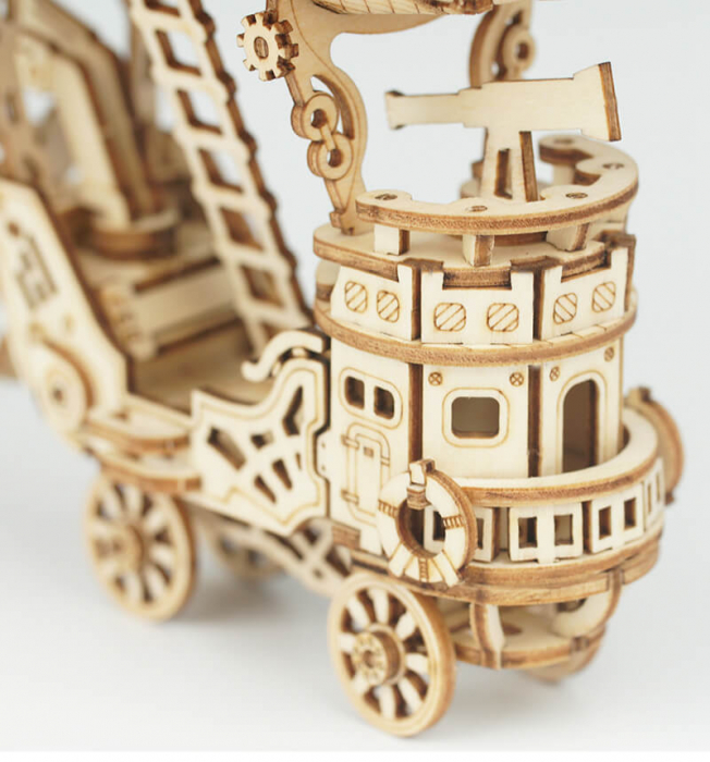 Dirijabil Zepelin - puzzle 3D din lemn 7