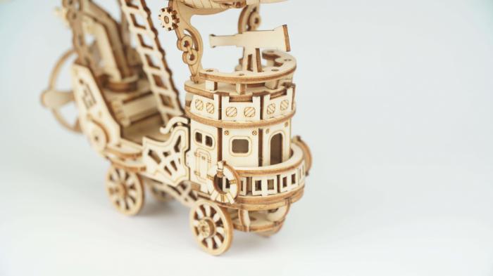 Dirijabil Zepelin - puzzle 3D din lemn 5