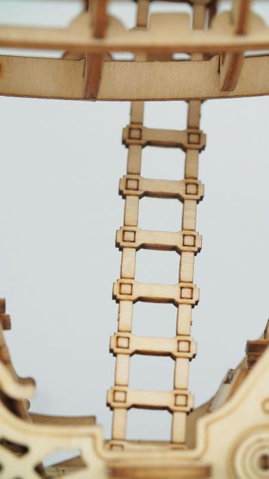 Dirijabil Zepelin - puzzle 3D din lemn 3