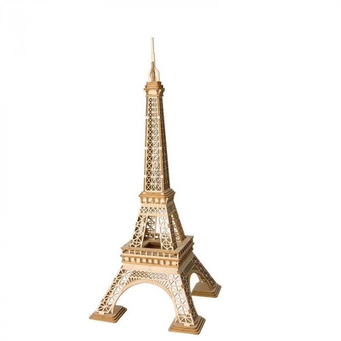 Tunul Eiffel - MechFun Puzzle 3D din Lemn 0