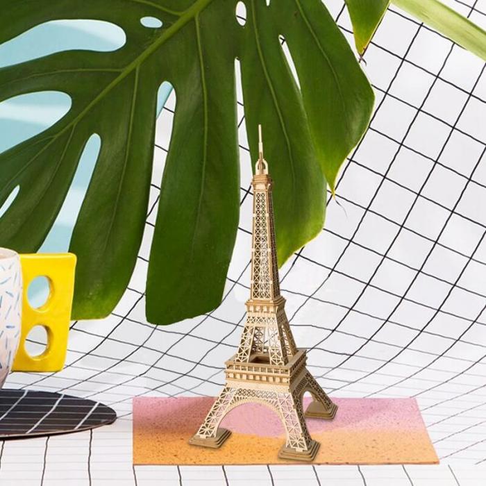 Tunul Eiffel - MechFun Puzzle 3D din Lemn 5