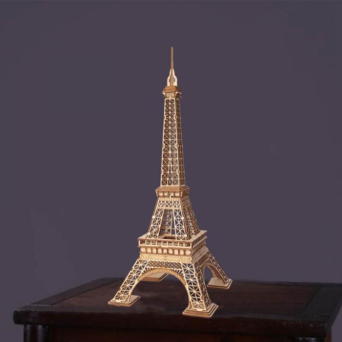 Tunul Eiffel - MechFun Puzzle 3D din Lemn 2