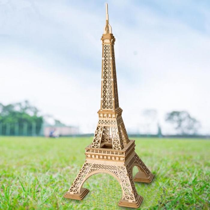 Tunul Eiffel - MechFun Puzzle 3D din Lemn 1