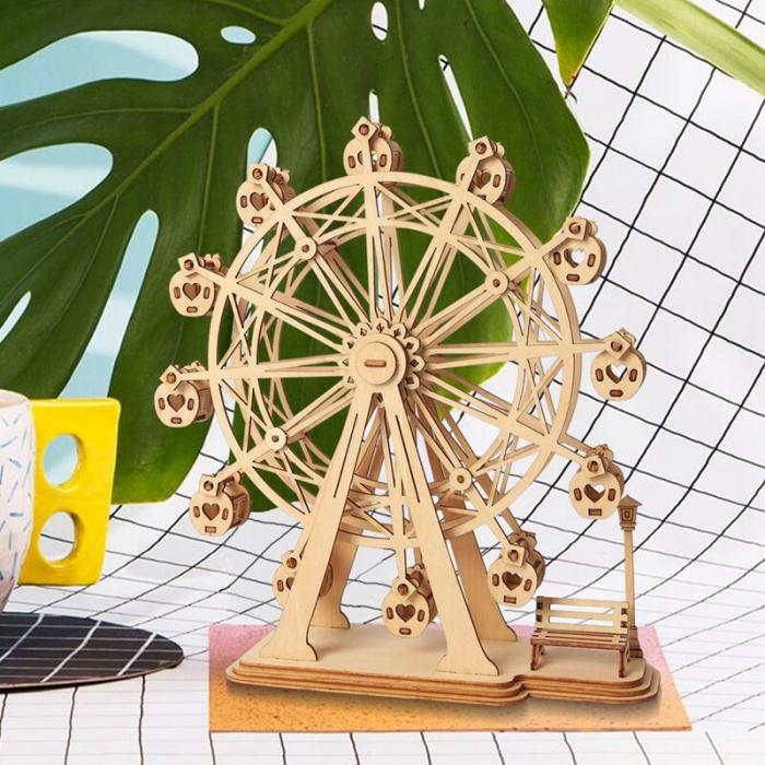 Roata magica - MechFun Puzzle 3D din Lemn 5