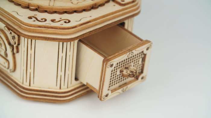 Gramofon - MechFun Puzzle 3D din lemn 4