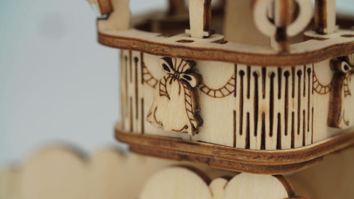 Gramofon - MechFun Puzzle 3D din lemn 7