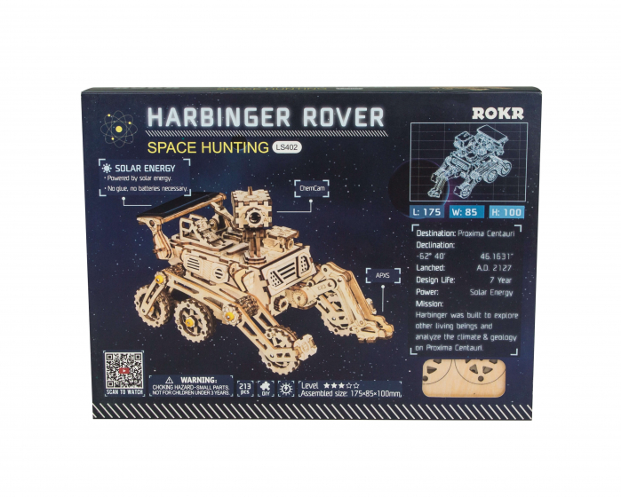 Harbinger Rover - MechFun Puzzle mecanic 3D din lemn 1