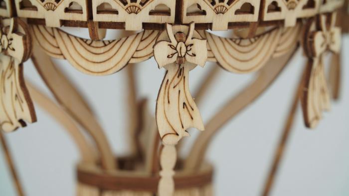 Balon cu aer cald - MechFun Puzzle 3D lemn 1