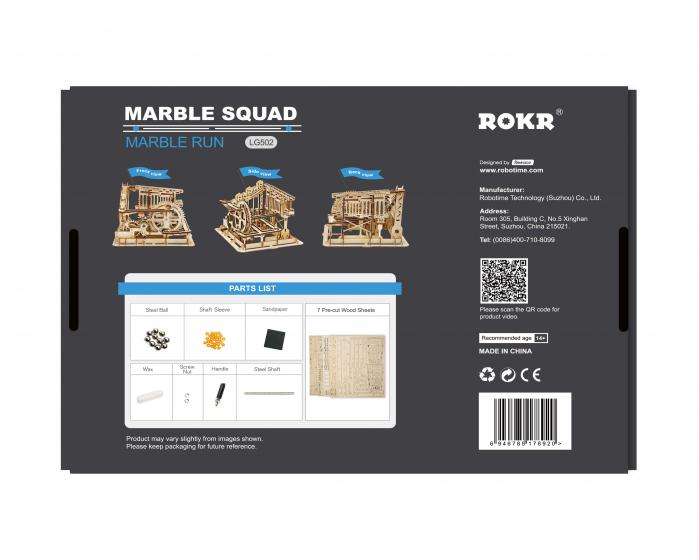 Marble Squad - Puzzle mecanic 3D din lemn 2