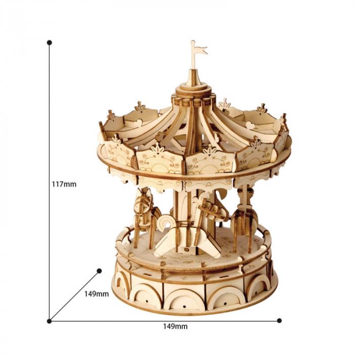 Carusel - MechFun Puzzle 3D din Lemn 2