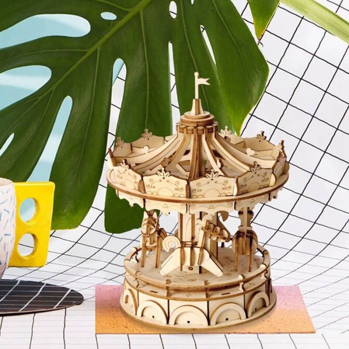 Carusel - MechFun Puzzle 3D din Lemn 5