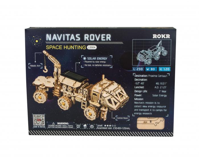 Navitas Rover - Puzzle mecanic 3D din lemn 1
