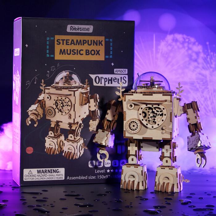 Robot muzical Orpheus - MechFun Puzzle Mecanic 3D 5