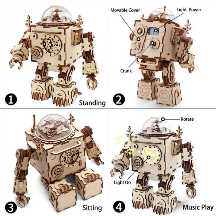 Robot muzical Orpheus - MechFun Puzzle Mecanic 3D 3