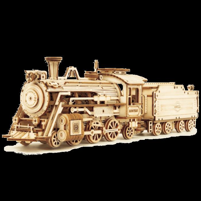 Express locomotiva cu aburi puzzle 3D lemn 2
