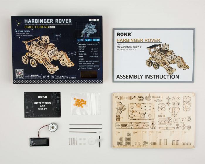 Rambler Rover - MechFun Puzzle mecanic 3D din lemn 1