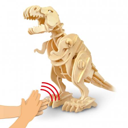 Teribilul T-Rex - Puzzle 3D din lemn [7]
