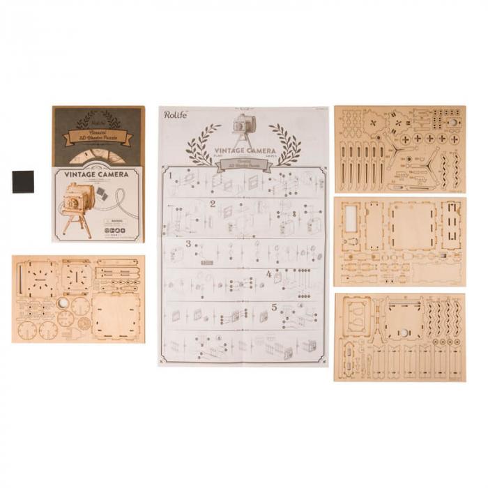 Aparat foto de colecţie - MechFun Puzzle 3D din lemn [4]