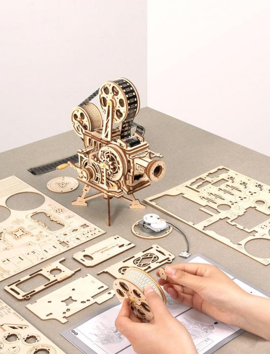 Vitascope puzzle mecanic 3D din lemn 5