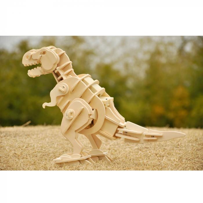 Teribilul T-Rex - Puzzle 3D din lemn [2]