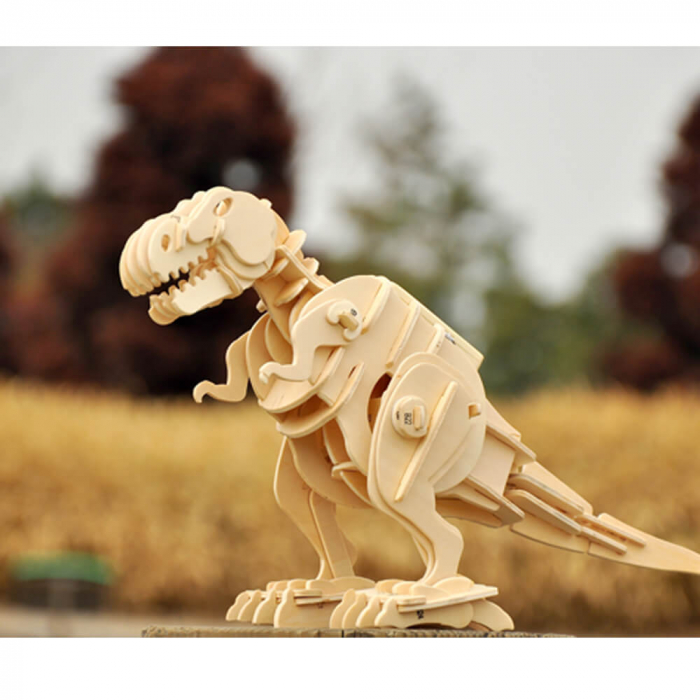 Teribilul T-Rex - Puzzle 3D din lemn [0]