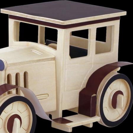 Maşina Clasică 1 - Puzzle 3D din lemn3
