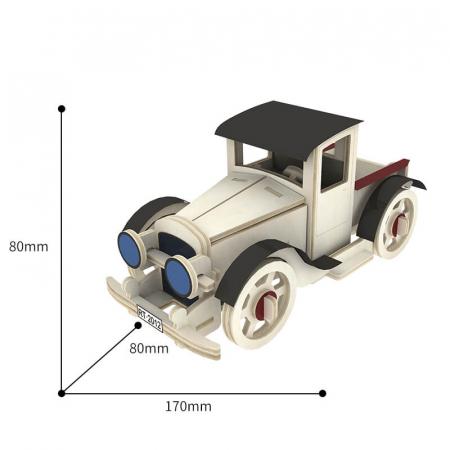 Maşina Clasică 3 - Puzzle 3D din lemn1