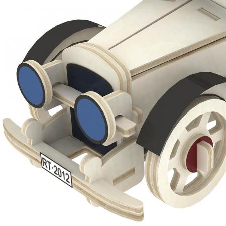 Maşina Clasică 3 - Puzzle 3D din lemn2