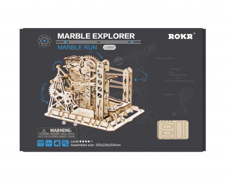 Marble Explorer - Puzzle mecanic 3D din lemn [3]
