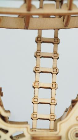 Impresionantul Zepelin - Puzzle 3D din lemn3